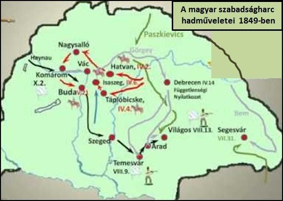 1848 49 Szabadsagharc Terkep Marlpoint
