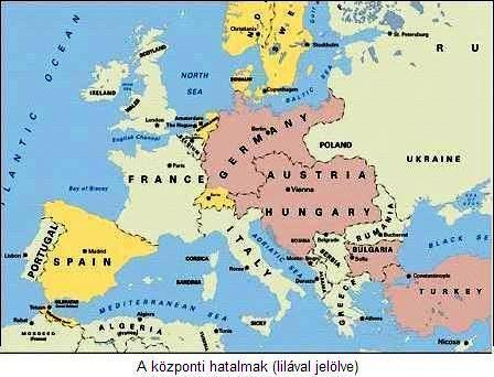 magyarország németország térkép Az első világháború története | tortenelemcikkek.hu magyarország németország térkép