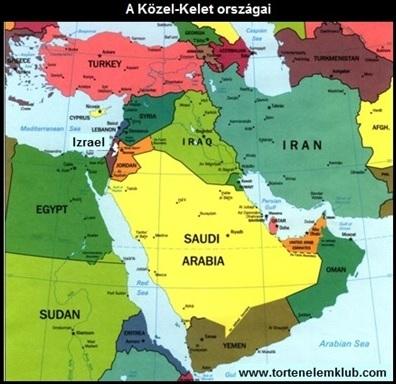 közel kelet térkép A Közel Kelet múltja, jelene és válságai | tortenelemcikkek.hu közel kelet térkép