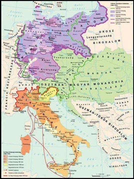 Az Olasz Es Nemet Egyseg Kialakulasa Tortenelemcikkek Hu